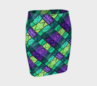 Nouveau Garden Stained Glass Fitted Skirt II preview