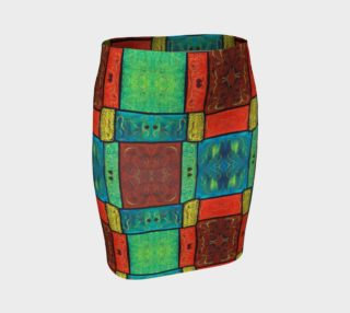 Coney Island Mosaic Fitted Skirt preview