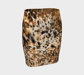 Aperçu de Stylish Black Brown Faux Fur Leather