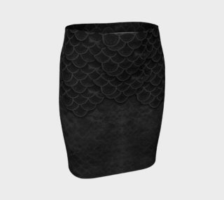 Gothic Mermaid Scales Tight Skirt preview