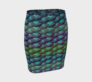 Handpainted Cut Paper Dragon Mermaid Scale Tight Skirt preview