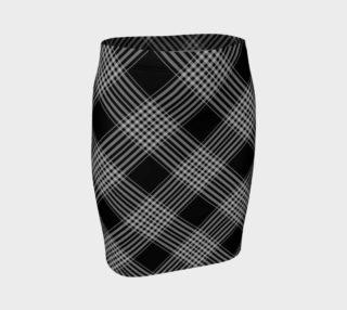 Aperçu de Fitted Black Plaid Skirt