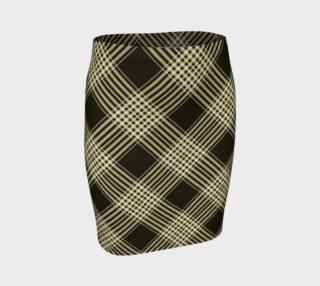 Aperçu de Fitted Plaid Yellow Skirt