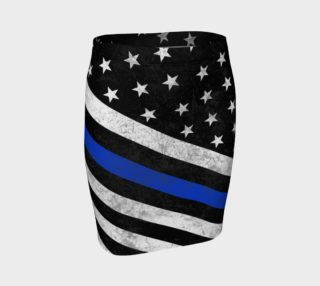 Thin Blue Line Flag Fitted Skirt preview