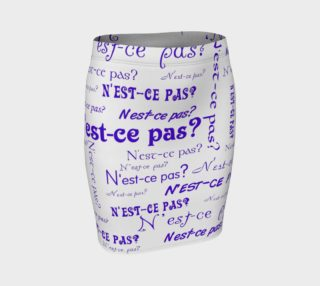 Purple N'est-ce Pas Fitted Skirt preview