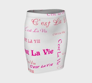 Fuchsia C'est la Vie Fitted Skirt preview