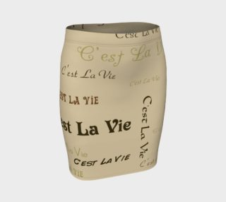Coffee C'est la Vie Fitted Skirt preview