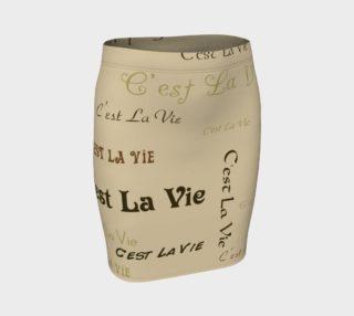 Aperçu de Coffee C'est la Vie Fitted Skirt