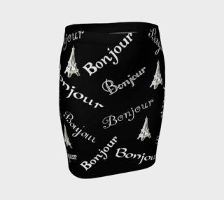 White Bonjour Fitted Skirt preview
