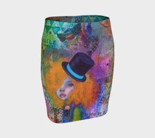 Life is a Circus! - Art Wear Fitted Skirt by Danita Lyn preview
