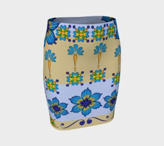 Talavera Fitted Skirt Blue Tan preview
