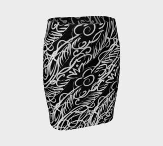 Black Scroll Fitted Skirt preview