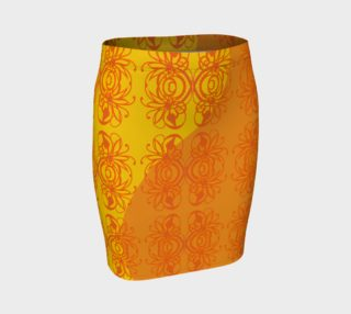 Bright Flower Gold Fitted Skirt preview
