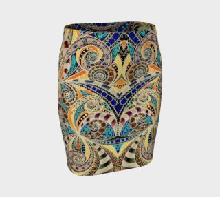 Skirt Drawing Floral Zentangle G14 preview