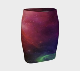 Aperçu de Aurora Portal Fitted Skirt by Danita Lyn