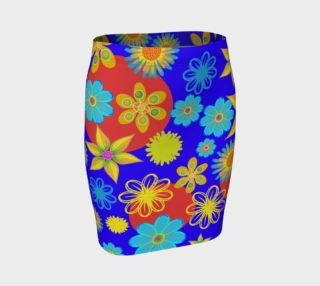Flower Max Color Fitted Skirt preview