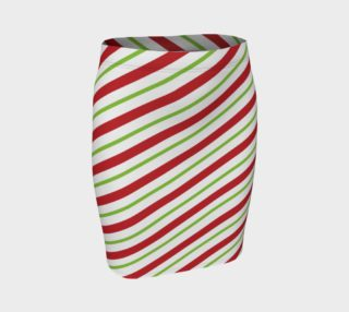 Candy Cane Fitted Skirt preview
