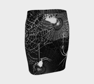 Black and White Spider Webs Skirt preview