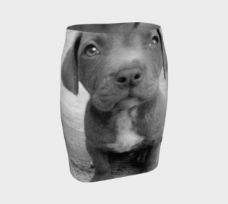 Pitbull puppy dog fitted skirt preview