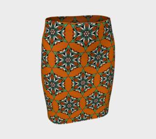 Mandala Starflower Bloom Fitted Skirt preview