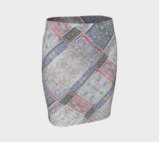 Winter White Mosaic Fitted Skirt II preview