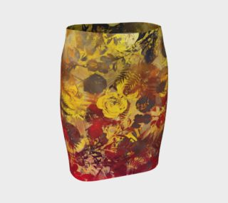 fitted skirt flowers preview