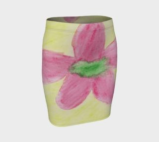Pink Flower Blossom Fitted Skirt preview