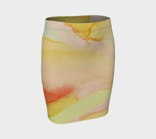 Sunburst Stained Glass Fitted Skirt preview
