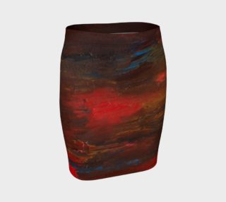 Crimson Ocean Fitted Skirt preview