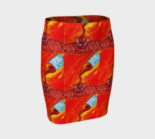 Whiskey on the Rocks Fitted Skirt by Richard Cortez preview