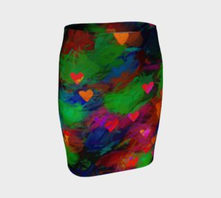 Wrapped in Painted Hearts Fitted Skirt preview