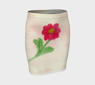 Red Daisy Fitted Skirt preview