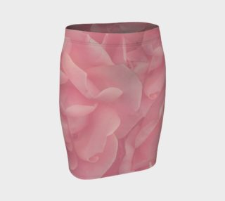 Rustic Pink Roses Fitted Skirt preview