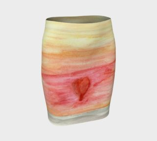 Radiating Heart FItted Skirt preview