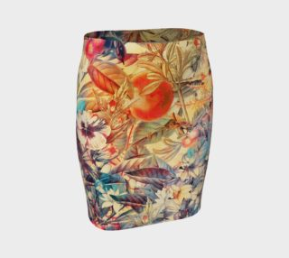 Aperçu de fitted skirt flowers and fruits