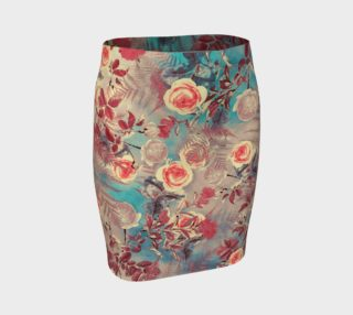 Aperçu de fitted skirt flowers roses