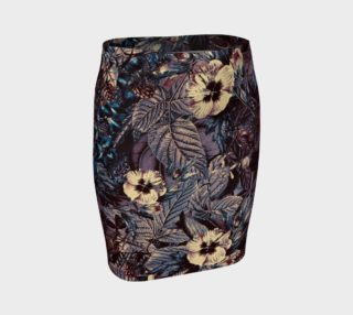 fitted skirt flowers dark preview