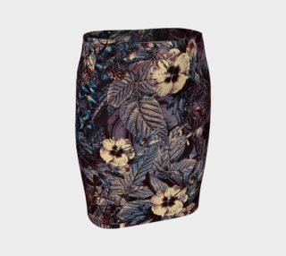 Aperçu de fitted skirt flowers dark