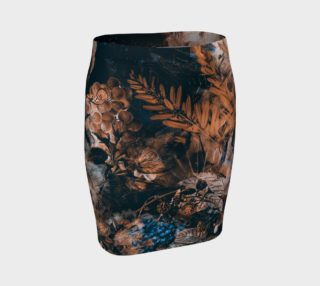 fitted skirt flowers brown preview