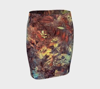 fitted skirt flowers art preview