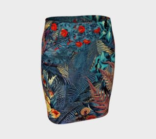 fitted skirt flowers color preview