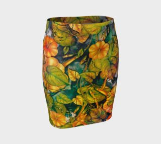fitted skirt flowers orange preview