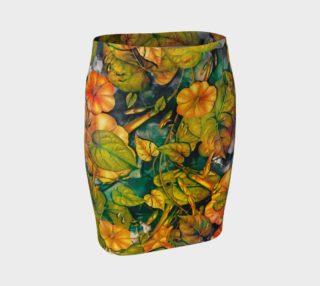 Aperçu de fitted skirt flowers orange