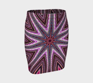 Candy Cane Kaleidoscope Fitted Skirt preview