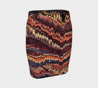 Vintage Marbled Paper Fitted Skirt preview