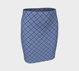 Bonnie Lass Blue Plaid Fitted Skirt preview