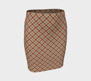 Bonnie Lass Red Plaid Fitted Skirt preview