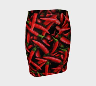 Aperçu de Red Chili Peppers Fitted Skirt