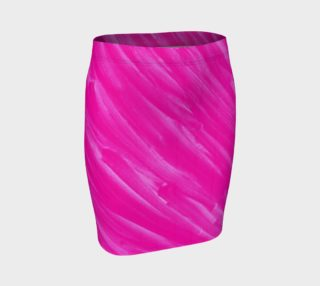 Hot Pink Happiness Fitted Skirt preview