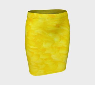 Sunshine Yellow Fitted Skirt preview